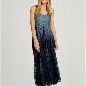 Indigo Thread boho maxi ombré size medium NWT